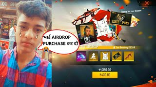 12 years boy ask me for buying Cobra mp40 from special airdrop-Garena free fire