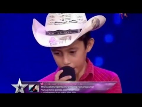 Es imposible no reconocer la voz de este niño algo timido de 12 años en programa de tv