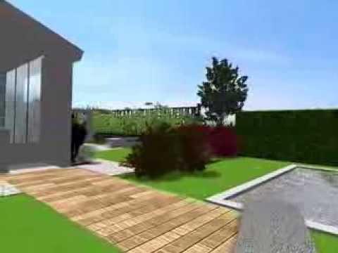 Progetto per un giardino privato su un lotto di 1600 mq luglio 2013 youtube - Progetto giardino privato ...