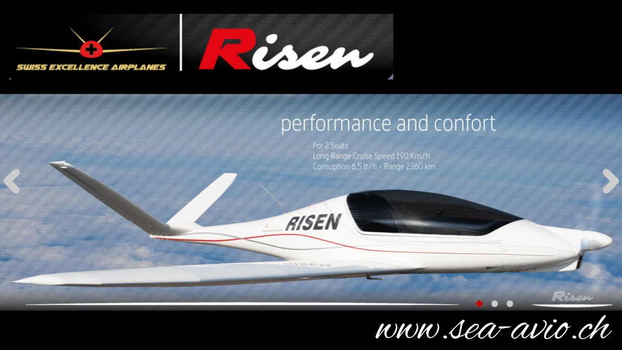 Risen, Swiss ultralight aircraft with retractable gear and in-flight  adjustable propeller