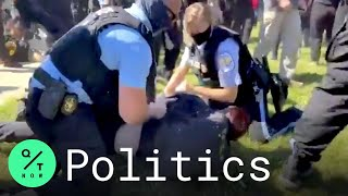 U.S. Park Police Clash With Protesters at Washington Monument