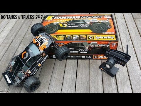 HPI E-Firestorm FLUX - Unboxing & First Look *77MPH Top Speed*