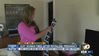 Lawsuit: Woman fired after revealing pregnancy
