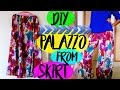 Palazzo / Boho pants from skirt in 10 Minutes | Wardrobe Makeover Ep:2 | MashDIYzone