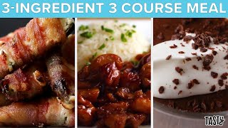 3-Ingredient 3 Course Meal • Tasty