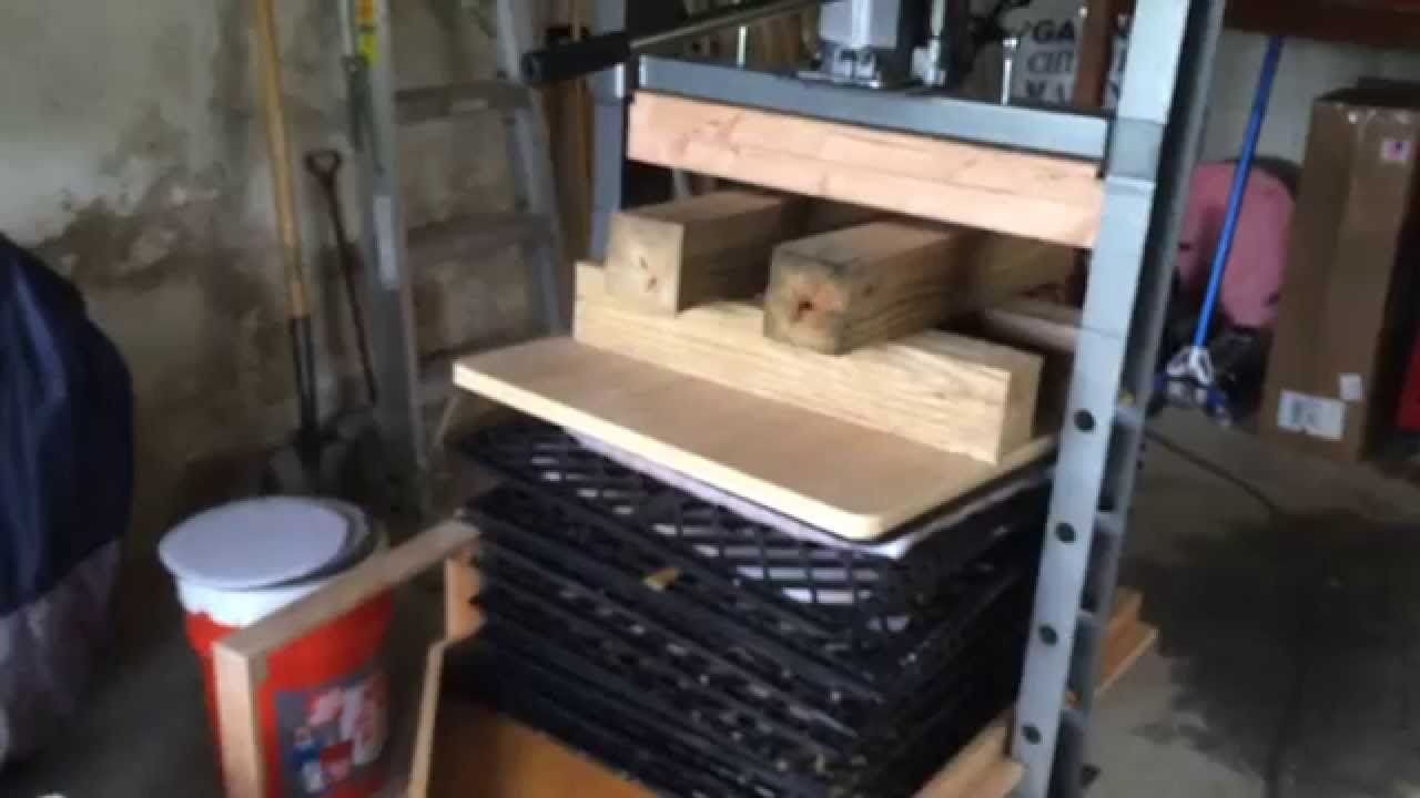 Cider Press For Sale >> Harbor Freight Apple Press Youtube