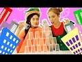 فوزي موزي وتوتي |DIY مع المندلينا | هرم الكؤوس | Cups pyramid