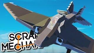 scrap mechanic creations planes fighter jets and vtol aircrafts