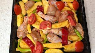 Fırında Soslu Patatesli Tavuğu Birde Benim Tarifimle Deneyin /Seval Mutfakta
