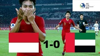 Indonesia U 19 Vs Uni Emirat Arab U 19 (afc U 19) 1 0