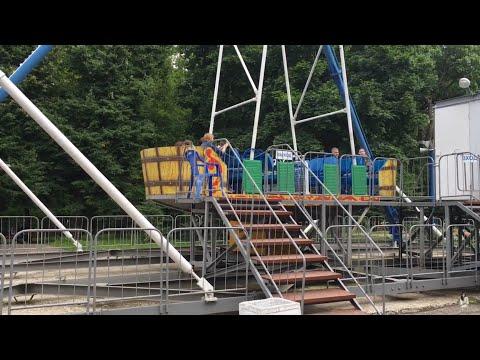 Amusement Park in Penza Russia (first time in Ferris wheel)