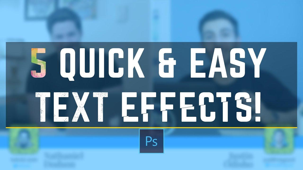 5 awesome photoshop text effects tutorial feat tutvid youtube baditri Images