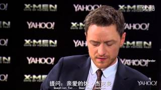 双语字幕Hugh Jackman Michael Fassbender and James McAvoy d