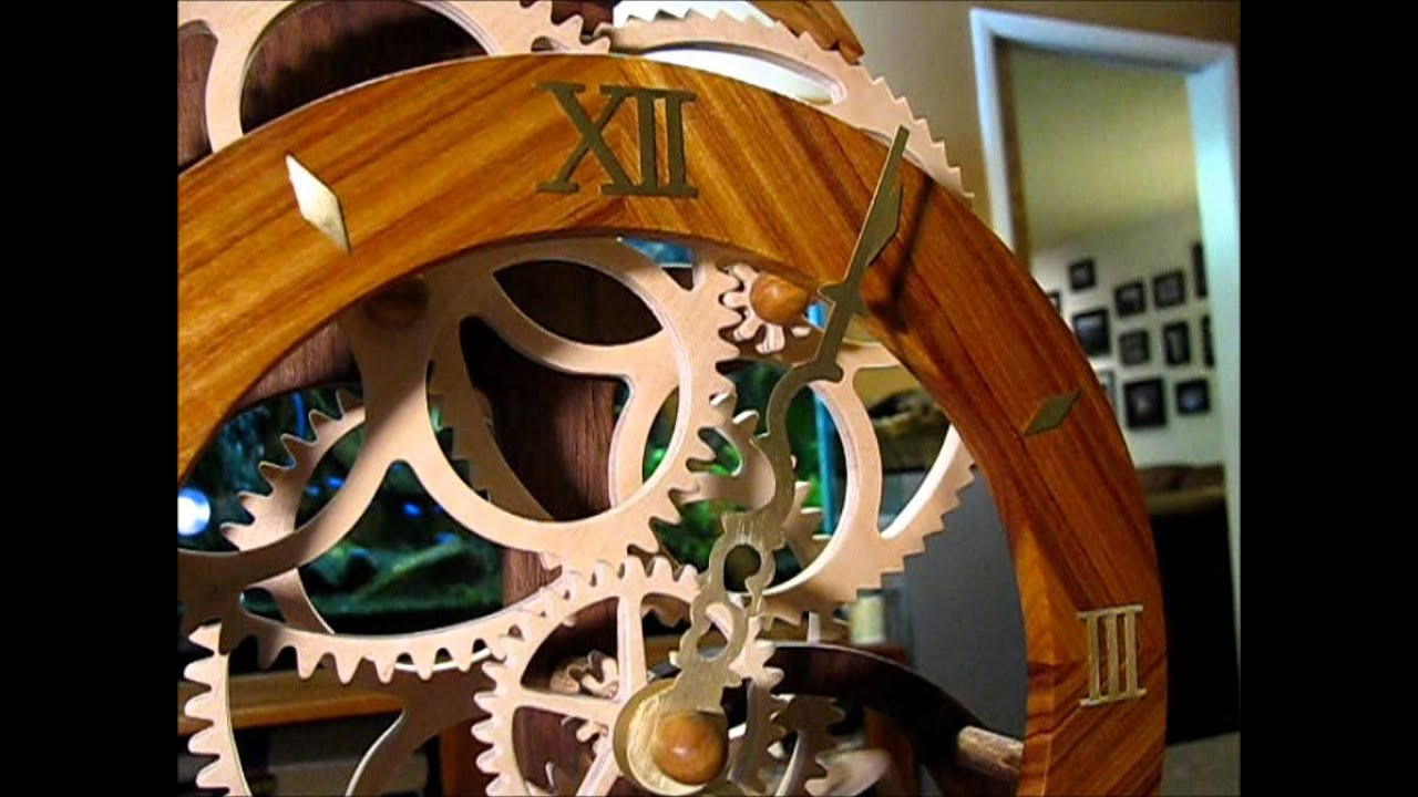 The Toucan: A wooden gear clock designed by Clayton Boyer