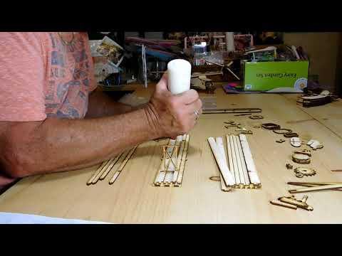 "Bi-Plane LazerModels ""They're Kits You Build"" Laser Cut Wood Models"