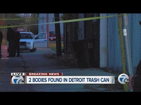 Two bodies found in trash can behind Detroit business