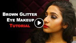 How To: Brown Glitter Eye Makeup | Eye Shadow | Makeup Tutorial | TBG Bridal Store