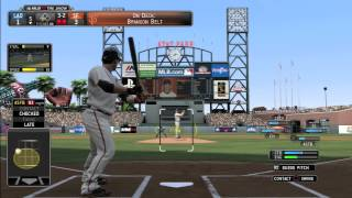 MLB 14 The Show Gameplay - Dodgers vs Giants