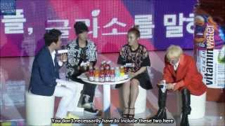 [ENG SUB] GD, Tablo and Lee Hi @ Glaceau Vitamin Water party.
