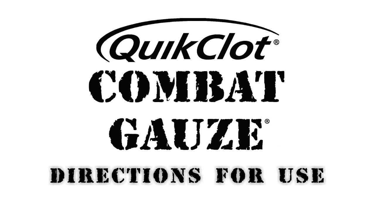 quikclot combat gauze directions for use youtube