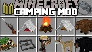 Minecraft EXTREME CAMPING MOD / SET UP G...
