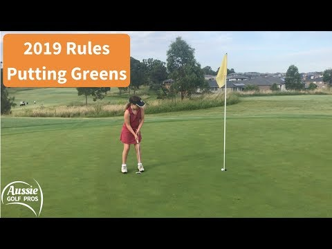2019 Golf Rules Putting Green