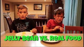 JELLY BEAN vs REAL FOOD | Hilarious