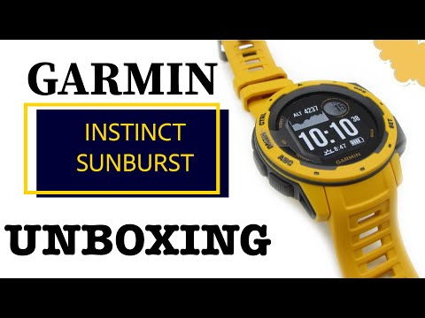 Garmin Instinct Sunburst Unboxing HD (010-02064-03)