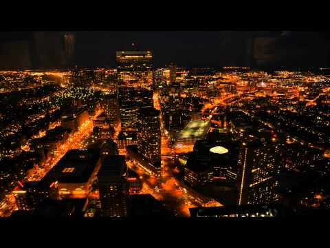 Prudential Tower (Boston) and Times Square (New York) Time Lapse