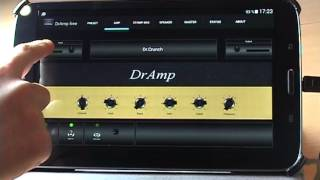 DrAmp - Android guitar amp - How to use(DrAmp is an USB-guitar amp for android devices. The song of the video is recorded with DrAmp. DrAmp features: Realistic tube amp simulation Stomp boxes ..., 2015-02-11T18:15:47.000Z)