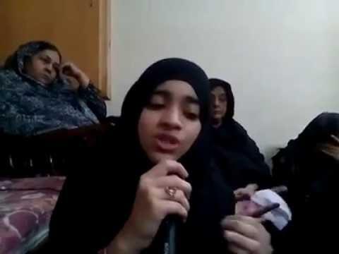 Pyaasi Hai Sakina Noha Recited By Nida Fatima At Majlis Lahore 27 Moharam 1437 10 Nov. 2015