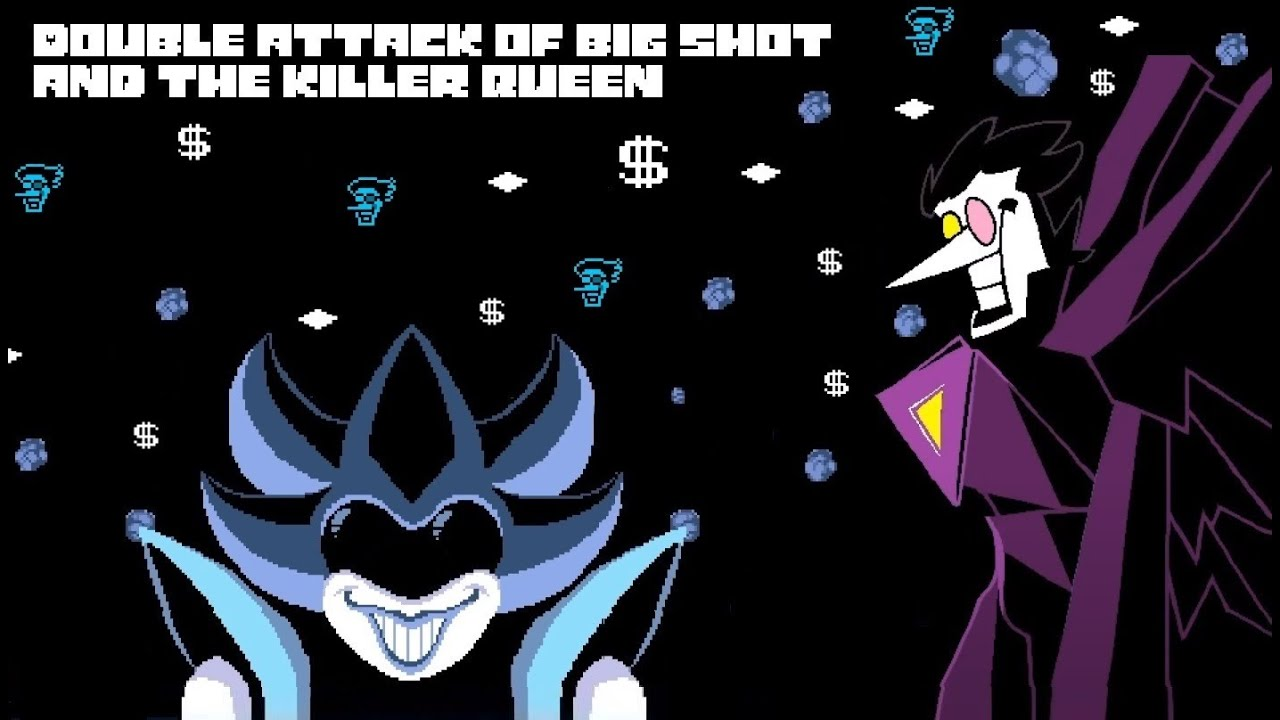 """Deltarune - Spamton Neo x The Queen """"Double attack of big shot and the killer queen"""" (MASHUP)"""
