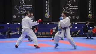 Aghayev Rafael (AZE) - Antonyan Arutyun (RUS). Karate1. Tyumen, April 2013