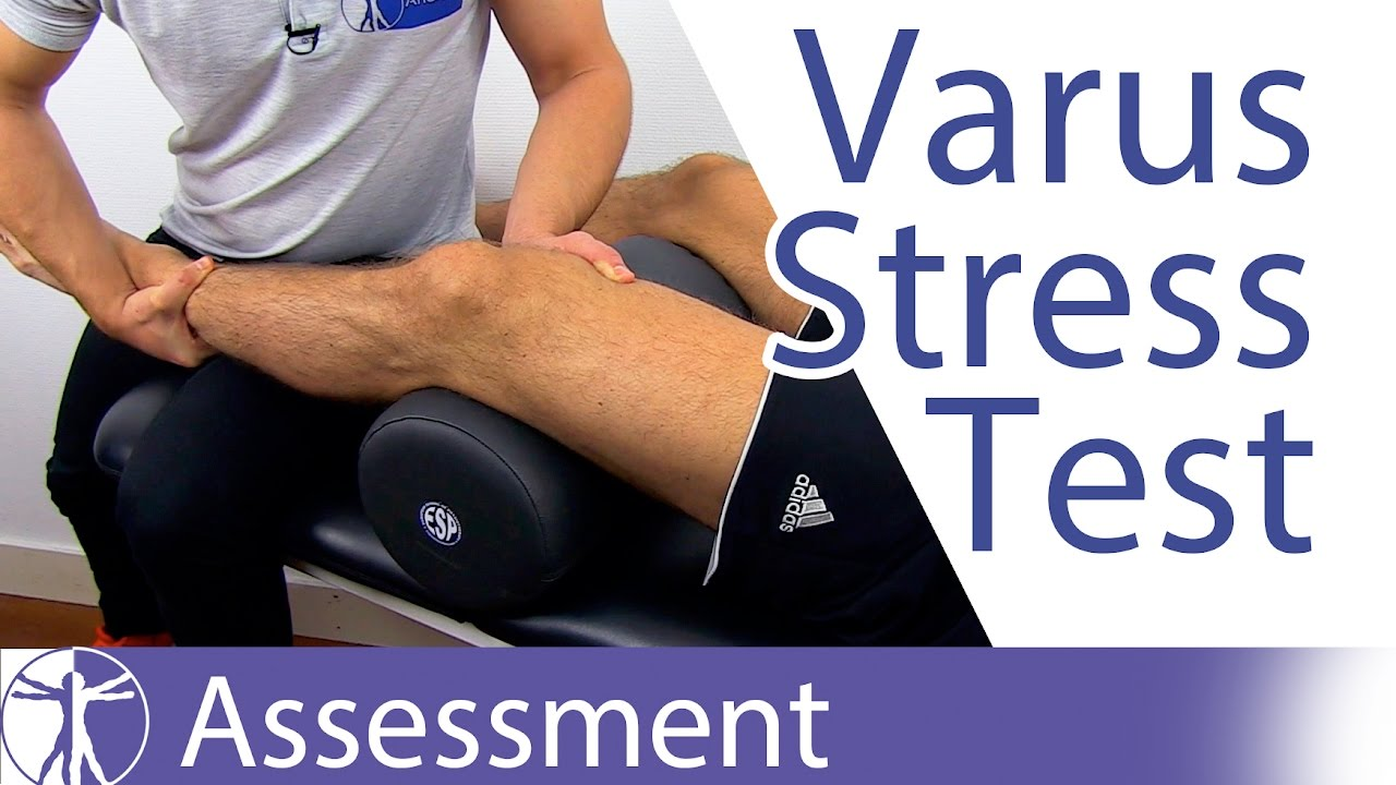 Varus Stress Test Of The Kneelateral Collateral Ligament Youtube