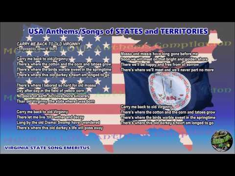 Virginia State Song Emeritus starting from 1997 CARRY ME BACK TO OLD VIRGINNY with vocal and lyrics
