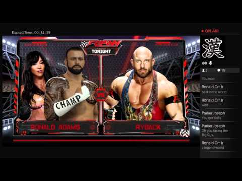 Ronald Adam wwe2k16 my career
