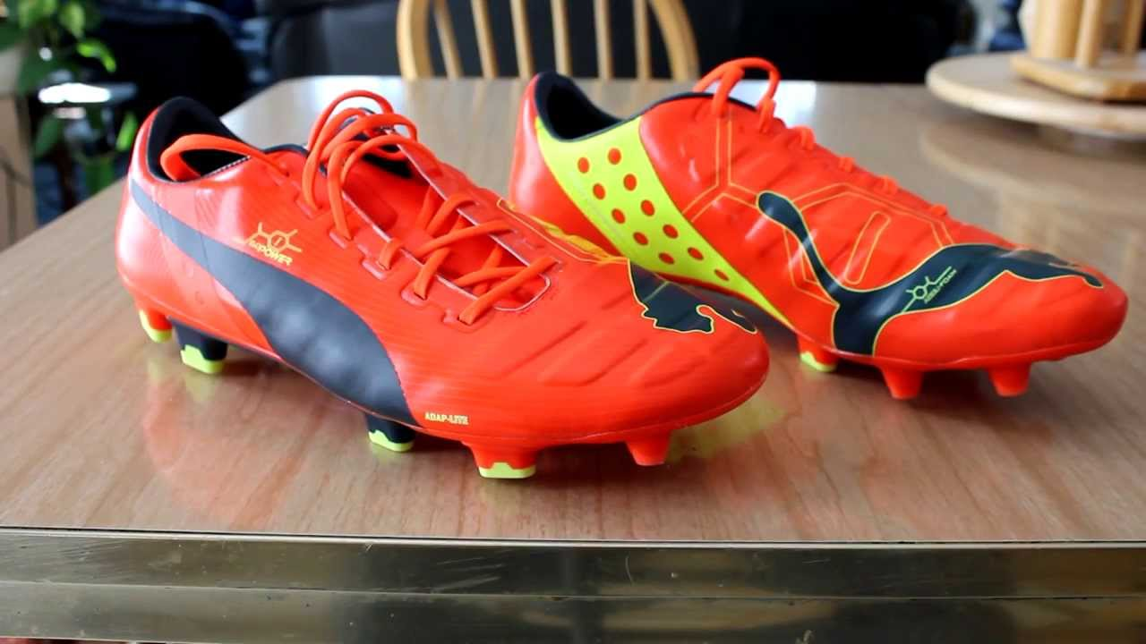 Puma evoPOWER 1 FG Fluo Peach Ombre Blue Yellow Unboxing   Comparison -  YouTube f2135c8f27a1