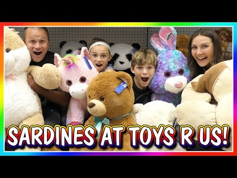 SILLY SARDINES AT TOYS R US | HIDE AND...