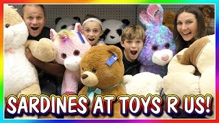 SILLY SARDINES AT TOYS R US | HIDE AND SEEK | We Are The Davises