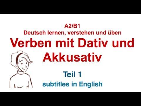 german grammar verben mit dativ und akkusativ verben mit zwei objekten teil 1 youtube. Black Bedroom Furniture Sets. Home Design Ideas