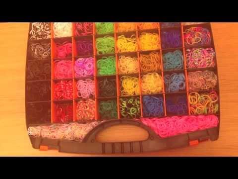 Мой большой набор резиночек для плетения ( 12 000 шт.) /My loom kit ( Rainbow loom )