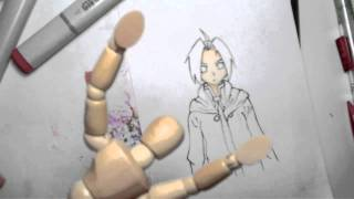 Drawing Edward Elric in Copics!