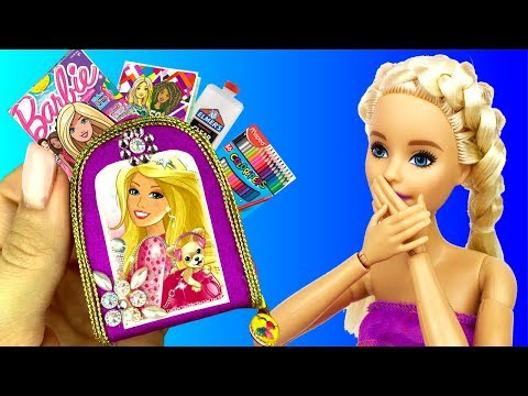 Back to School BARBIE 💝 DIY SCHOOL Supplies (for DOLLS) 💝 5 MINUTE CRAFTS