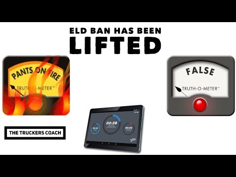 ELD changes are coming. The ban is being lifted. Really when ?