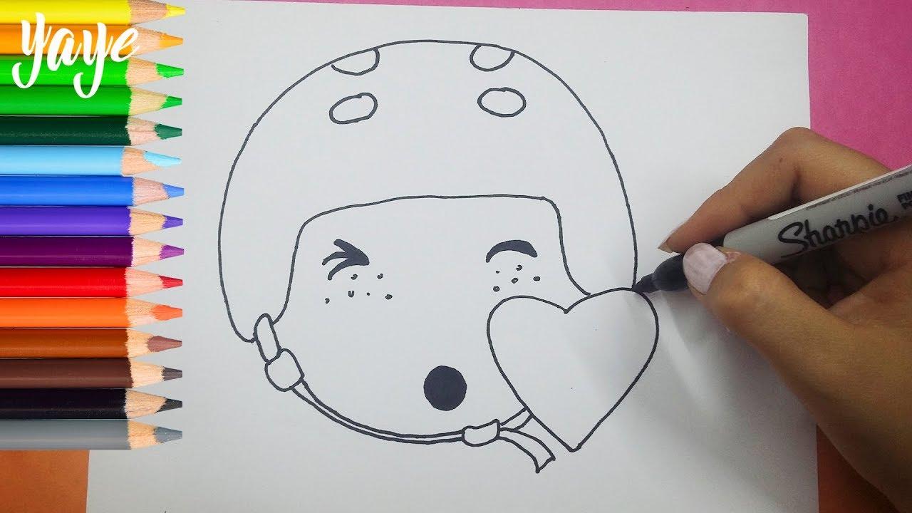 Soy Luna 3 Para Colorear: Dibujando Emoji De Soy Luna/ Drawing Emoji From Soy Luna