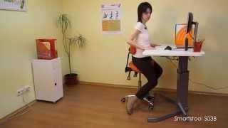 обзор и настройка ортопедического стула-седла SmartStool S03B, регулировки и использование
