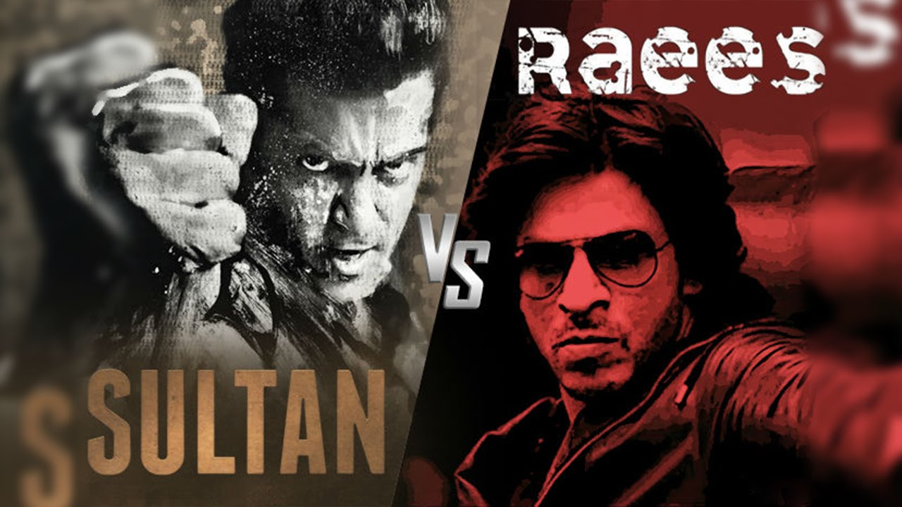 Image result for 4. Shahrukh Khan (Raees) - Salman Khan (Sultan)