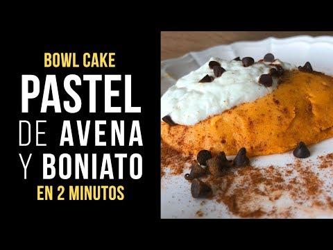 Pastel Bowl Cake de Avena y Boniato
