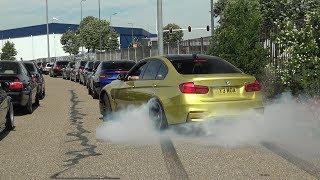CRAZY BMW's Arriving at Bimmerfest - Burnouts!! X5M Mannhart, M2 FI/iPE M3, M4, M5, M6 etc!