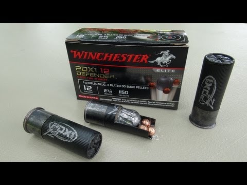 Winchester PDX1 12 Defender (12 gauge) Gel Ammo Test
